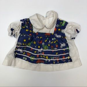 Vintage baby girl apron front style dress